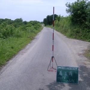 篭谷上之迫線道路改良工事